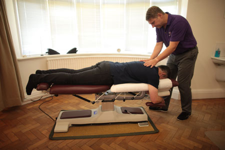 Back chiropractic treatment at Wrexham clinic