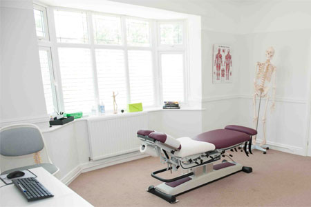 Therapy room at Back to Health in Chester