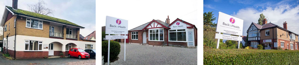 Exteriors of Back to Health clinics in Chester, Mold and Wrexham