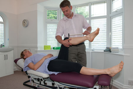 Patient in Chester receiving chiropractic treatment